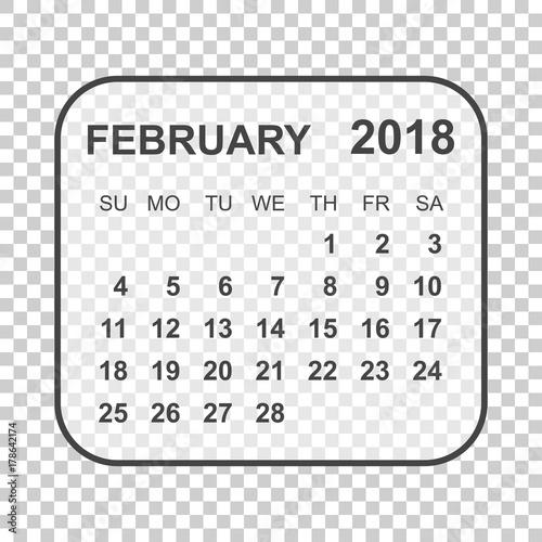 february 2018 calendar calendar planner design template week
