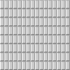 3D light tiled wall. Seamless vector pattern background.