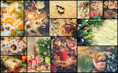 collage of Christmas pictures.
