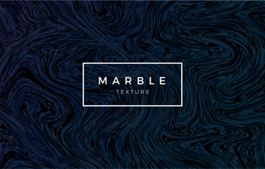 Dark blue marble background. Vector trendy texture.