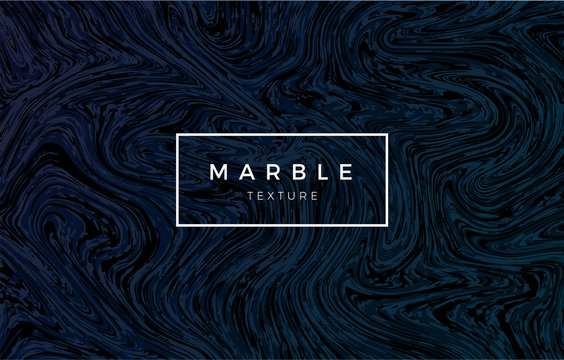 Dark blue marble background. Vector trendy texture.