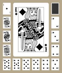 Diamonds suit playing cards