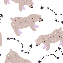 bear starry pattern