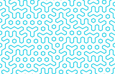 Seamless geometri pattern with hexagons and lines. Bright scandinavian design. Irregular structure for fabric print. Monochrome abstract background.