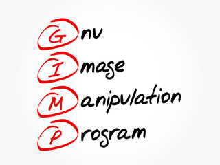 GIMP - Gnu Image Manipulation Program acronym, concept background