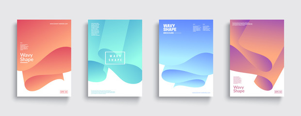Modern covers with colorful twisting shapes. Trendy minimal design. Eps10 vector. Fotoväggar