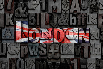 Letterpress London flag