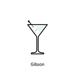 Gibson cocktail icon