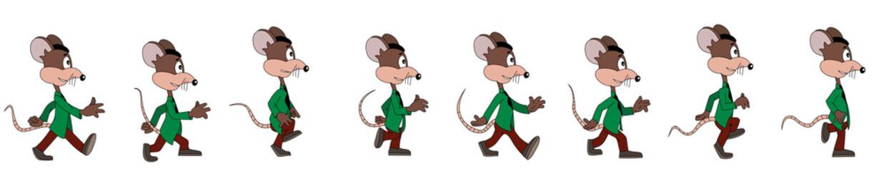 Cartoon mouse - walk cycle