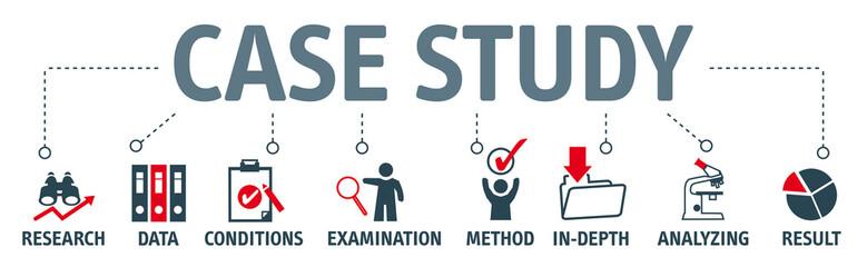 Banner case study vector illustration