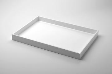 rectangular white tray