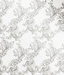 Damask pattern decor for invitation, wedding, greeting cards. Vector illustrations