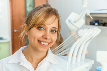 Young Woman Dentist in the Dental Office