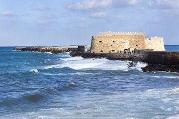 Foto op Plexiglas Vestingwerk Koules fort in Heraklion