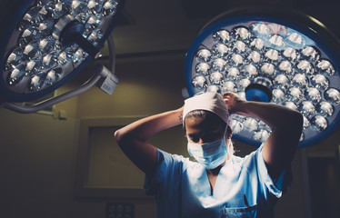 Surgeon getting ready for a surgery