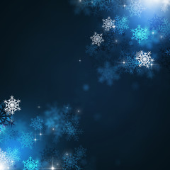 Holiday Winter Blue Background
