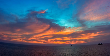 Incredible sunset over sea