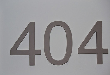 house or hotel room numbers on clear gray surface, For graphical concept