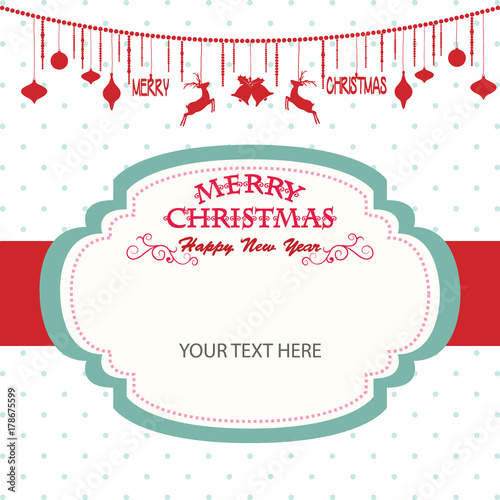 merry christmas and happy new year cardchristmas invitationchristmas greeting card template