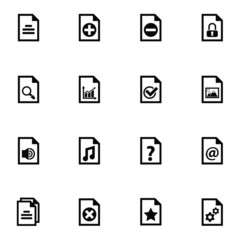 documents icon set