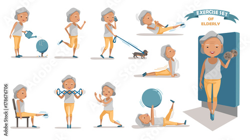Quot Exercise Senior Exercise Of Female Exercising Character