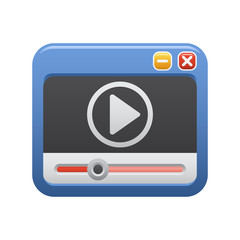 Video Clip - Novo Icons. A professional, pixel-aligned icon designed on a 64 x 64 pixel.