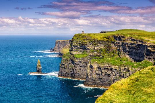 Cliffs of Moher Klippen Irland Reise Meer Tourismus Natur Ozean