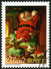 ALAND - 2007: shows Santa Claus, devoted Christmas