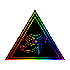 The Eye of Horus vector illustration.