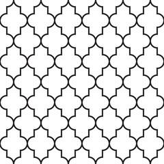 Oriental style quatrefoil ornament. Seamless vector pattern