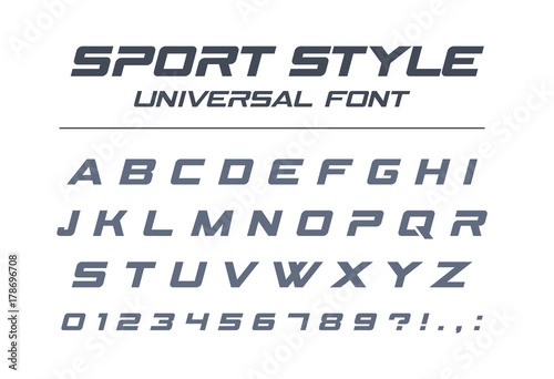Sport Style Universal Font Fast Speed Futuristic Technology Future Alphabet Letters
