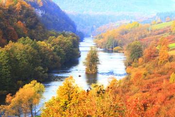 River Korana near Slunj/Rastoke, Croatia, fall, landscape