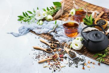 Selection of japanese chinese herbal masala tea teapot