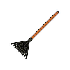 colorful  rake over white  background vector illustration