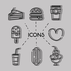 set business commercial icons decoration