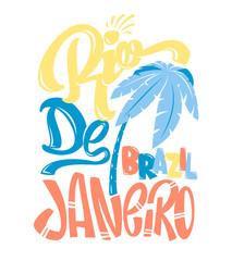 Shirt print Rio de Janeiro vector illustration