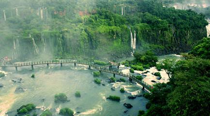 Iguazu Falls on Argentina and Brazil Borders, UNESCO