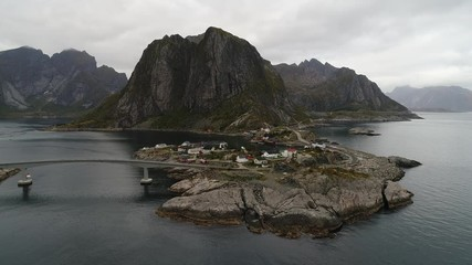 Wall Mural - Hamnoy fishing village on Lofoten islands in Norway