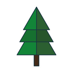 christmas tree icon over white background vector illustration