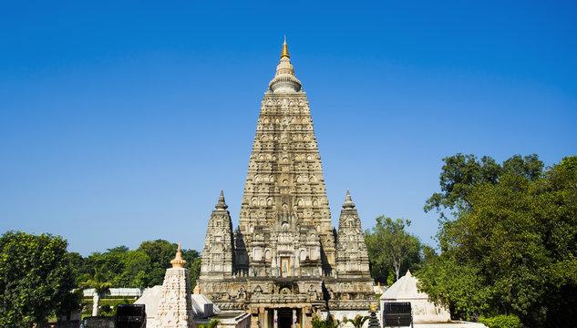 Mahabodhi  Bodh Gaya temple, India. 2017