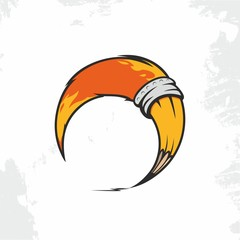 Modern vector professional sign logo pencil fox