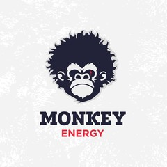 Modern vector professional sign logo monkey energy