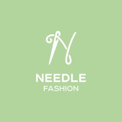 Modern vector professional sign logo needle fashion