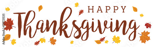 """Happy Thanksgiving Wide Banner on White Background 1 ..."