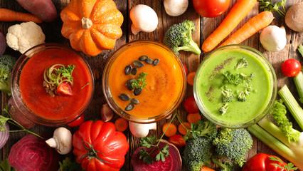 Fotobehang - assorted bowl of soup