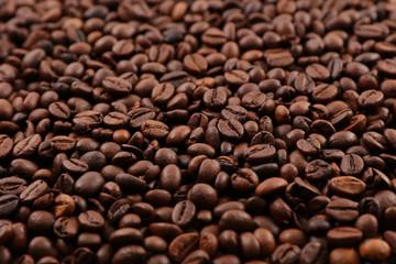 Poster de jardin Salle de cafe close up on coffee bean