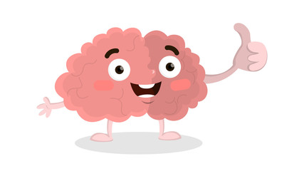 Brain thumb up.