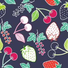 Juicy berries seamless pattern.