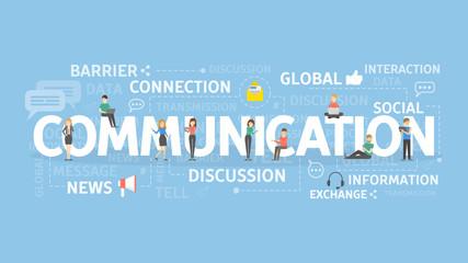Communication concept illustration.