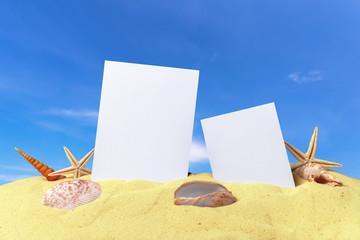 photos on sand background